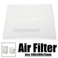 30x30cm Luftfilter HEPA Staubfilter Luft reinigen für Ventilator Klimaanlage /