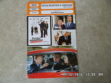 CARTE FICHE CINEMA 2010 PETITS MEURTRES A L'ANGLAISE Bill Nighy Emily Blunt