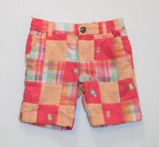 """Gymboree """"Popsicle Party"""" Lined Plaid Gingham Patchwork Bermuda Shorts, 4"""