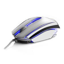 NGS Glace 7 color RGB Souris optique 3 boutons argent enduit Réglable 2400 dpi