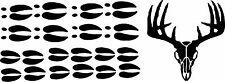deer  set tracks / hoof print decal /set custom buck & footprint set