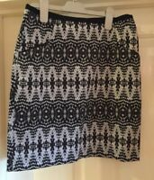 H&M Stunning Skirt, Black And White, Size 10 - Fab!
