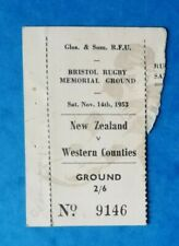 More details for 1953 - western counties v new zealand, *rare* touring match ticket stub.
