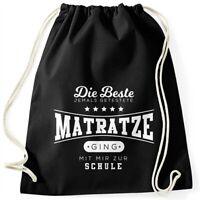 Turnbeutel mit Spruch Die beste Matratze lustiger Turnbeutel Saufen Bier Party