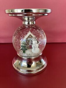 Bath & Body Works Water Globe Reindeer Pedestal 3-wick Candle Holder Christmas