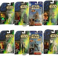 Star Wars Action Figures Lot of 8 Luke Skywalker Mace Windu Princess Leia Jango