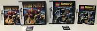 Nintendo DS 2 Game Lot: LEGO Batman 2: DC Super Heroes and Iron Man 2 ! CIB ! 🔥