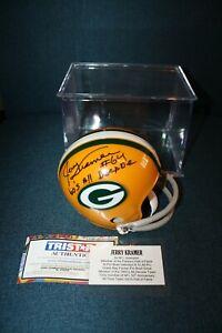 Jerry Kramer Autographed Mini Helmet 60'S ALL DECADES TEAM PACKERS