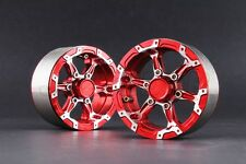 "Jazrider Aluminum 1.9""Beadlock 6-Spokes Wheels(D) Red For RC Crawler SCX10/CC01"