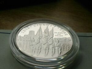 GEM PROOF 2002 .900 SILVER DOLLAR US MILITARY ACADEMY BICENTENNIAL with Holder