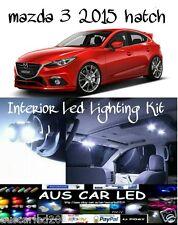 Mazda 3 2015+ Hatch sedan White LED Interior Light Kit all colours available