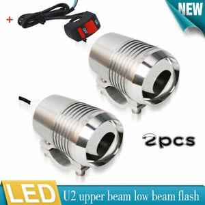 2X 30W LED Scheinwerfer +Schalter 2stk Tagfahrlicht Motorrad Zusatzscheinwerfer
