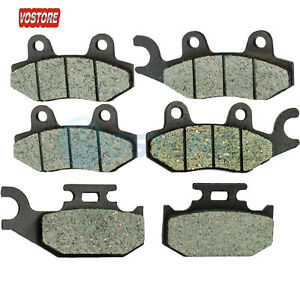 CRU Front Left Right Brake Pads Compatible with Yamaha Rhino 2004-09 YXR 450 2004-07 YXR 660