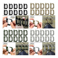 10 Pcs Multipurpose D-Ring Grimloc Locking for Molle Webbing with Zippered Pouch