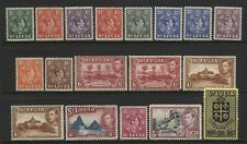 St Lucia 1938 Collection 18 KGVI Values Mounted Mint + Unmounted Mint