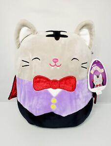 """🐈⬛ NWT Squishmallow 🐈⬛ 8"""" Tally the Cat 🐈⬛ KellyToy Vampire Halloween"""