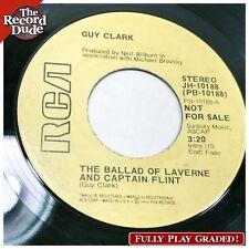"GUY CLARK ""Ballad of Laverne & Captain Flint"" RCA texas folk FULL PLAY GRADE 45"