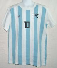 Adidas Fussball Messi Nr.10 T - Shirt Blau Weiss Gestreift ARG Gr.  S / 140  NEU