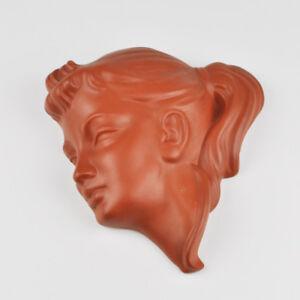 Wormser Terra Sigillata - Bärbel 930 - Wall Mask - Wall Head - Vintage Wall Mask