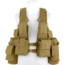 MFH South Africa Assault Vest Hunting Cargo Pouch Tactical Airsoft Coyote Tan