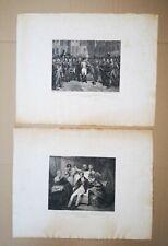 """2 incisioni acquaforte Gaetano Guadagnini (Bologna 1800-1860) """"Napoleone"""""""