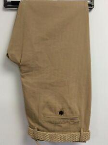 Gurteen Mens Cotton herringbone Desert chino - BNWT - many sizes - belt included