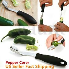 8'' Jalapeno Pepper Corer Stainless Steel Serrated Seed Remover Kitchen Too