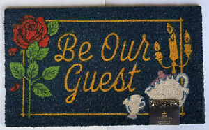"""Disney Princess Beauty And The Beast Be Our Guest Coir Doormat 18""""X30"""" Outdoor"""