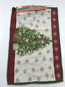 1pc Christmas Holiday Tapestry Placemat Christmas Tree Holiday Decoration Decor