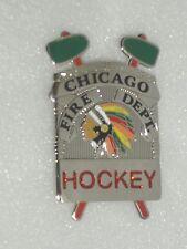 Chicago Fire Department Blackhawks Novelty badge Hockey Champs
