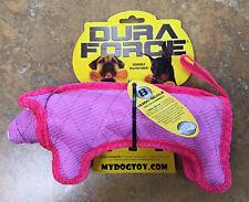 Dog Toy DuraForce Tough Woven Fiber Floats Squeaks Pig NEW