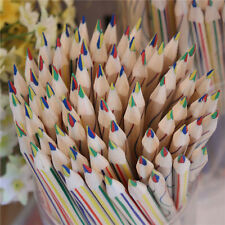10pcs Rainbow Color Kids School Pencils 4 in 1 Colored For Drawing Stationery US