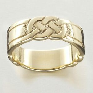 New Ola Gorie 9ct Yellow Gold Celtic Knot Wedding / Dress Ring Boxed