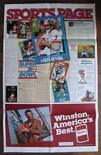 """Large Advertising Poster for """"Sports Page"""" Vol. III Issue 1 Dec. 1984-Jan. 1985"""