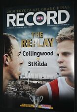 2010 Grand Final Replay Record Collingwood vs St Kilda match Edition near MINT