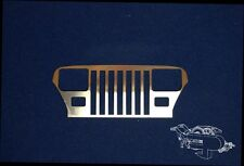 Scale Crawler 1/10 Grill Tamiya Jeep Wrangler  SCX10, AX10, Honcho,  1:10 Truck,