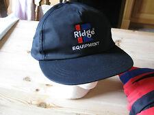 Casquette de baseball noire taille unique réglable Logo Ridge équipement également bleu ou rouge