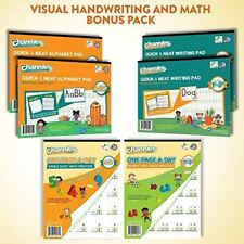 Channie's Visual Handwriting & Math Workbook Bonus Pack 6 workbooks