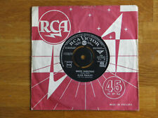 "ELVIS PRESLEY COLLECTOR 7"" WHITE CHRISTMAS SAME LABEL BOTH SIDES With Providence"
