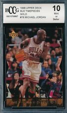 MICHAEL JORDAN 1998 UPPER DECK MJX TIMEPIECES GOLD #/23 CARD #78 BGS!  23 MADE!