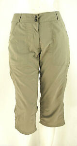Pantaloni Capri Montagna Donna Escursioni Trekking SALEWA D410 Kaki-Marrone T 42