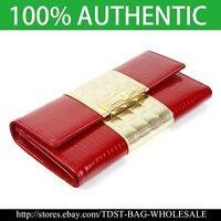[OMNIA]Crystal Korea Ladies Checkbook Genuine Leather Purse Trifold Wallet  303L