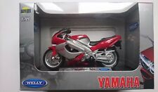WELLY '01 YAMAHA YZF 1000R THUNDERACE 1:18 DIE CAST NEW LICENSED MOTORCYCLE