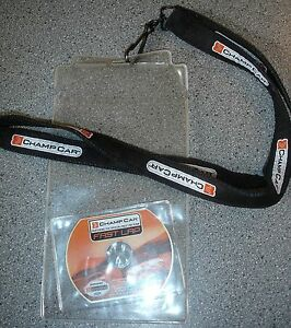 CHAMP-CAR Credential Ticket Holder Lanyard MINI CD Indianapolis Indy 500 MUSTANG
