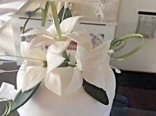 WEDDING CAKE SUGAR FLOWERS STAR LILIES IN IVORY, ALSO MORE COLOURS AVAILABLE