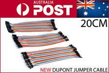 120pcs 200mm Dupont Jumper Cable Hookup Wire 20cm 120pieces Arduino Breadboard