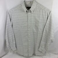 Ermenegildo Zegna Men's Dress Shirt Size XL White Multicolor Plaid Long Sleeve