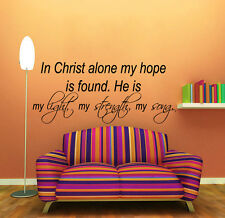 Bible Verses Wall Decal Quote Christ Vinyl Stickers Faith Bedroom Decor KI157