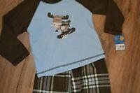 Boys Carter's Fleece Shirt & Pants 2 Piece Pajamas Set ~ Plaid ~ Super-Comfy ~4T