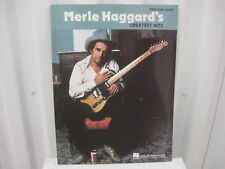 Merle Haggard's Greatest Hits Sheet Music Song Book Songbook Piano Vocal Guitar